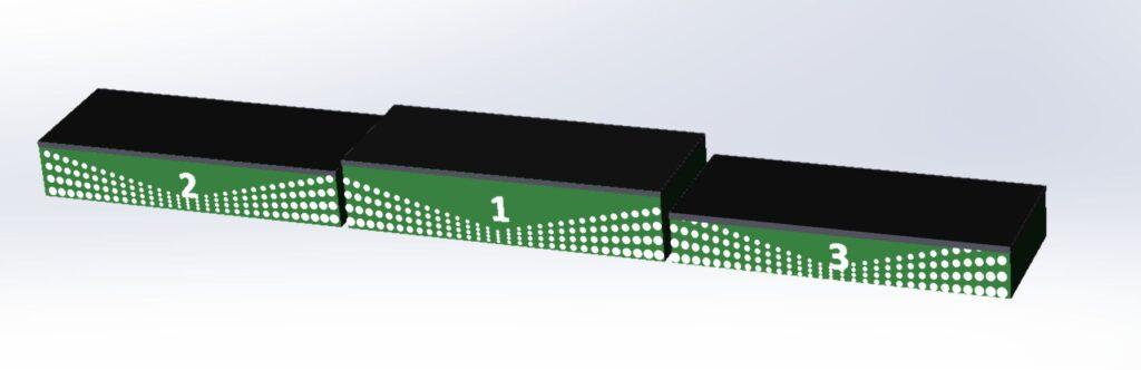 прямоугольный пьедестал для улицы зелёного цвета