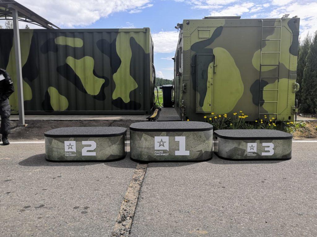 Армейский пьедестал  фото которого сделано в парке Патриот